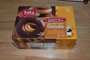 Katz chocolate frosted donuts.