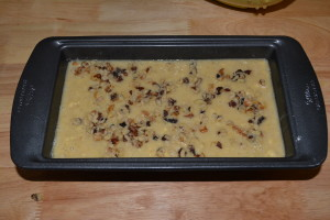 Banana bread ready for baking!